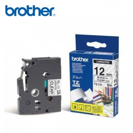 Brother TZ-Tapes 12mm Balck on Clear -TZ131