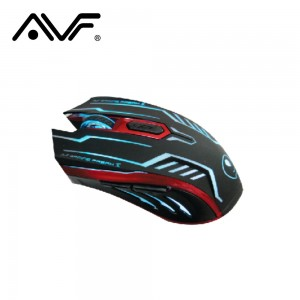 AVF X2 GAMING FREAK II 6D LASER MOUSE (3000DPI) USB - GREY/RED