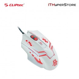 CLIPTEC GAMING MOUSE RGS563 - WHITE