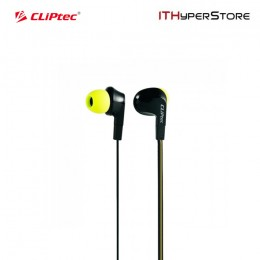 CLiPtec BME737 NEON-ROCK In-Ear Earphone with Microphone (Yellow)