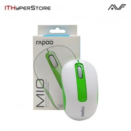 AVF RAPOO M10-GRN WIRELESS 2.4G OPTICAL MOUSE (1000DPI) - GREEN