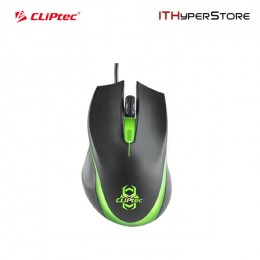 Cliptec 1600dpi USB Illuminated Gaming Mouse  - Sauropo (Green) RGS560