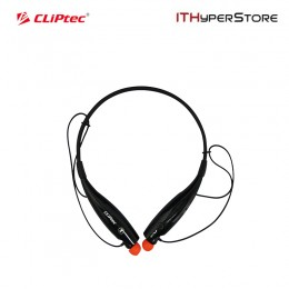 Cliptec Bluetooth 4.0 Stereo Neckband Headset With Mic (Air-Neckbeat) - Black
