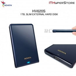 ADATA HV620S 1TB USB 3.0 External Hard Drive, Slim Design as 11.5mm